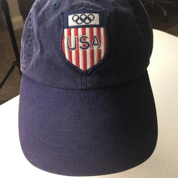 c7e51d87f909b Polo by Ralph Lauren 2008 USA Olympic Team Hat Cap.  M 5b57a9ee04e33d575d3df0d8